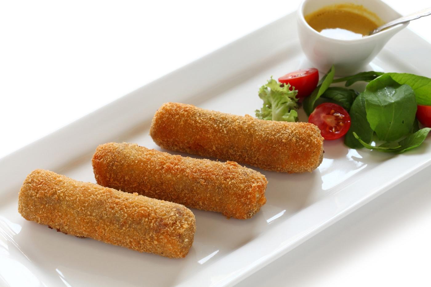 Delicioso croquete de grão de bico (simples e saudável)